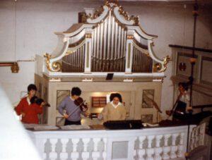 Ende 1988 erste Beschäftigung mit historischen Instrumenten