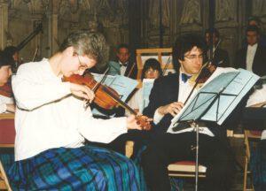 1992 Konzertmeister beim Barockorchester der Europäischen Union (EUBO) (auch 1993,1995,1996,1998)