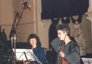 November 1995 CD-Aufnahmen Telemann Tafelmusik für Naxos mit dem 'Orchestra of the Golden Age' in Manchester