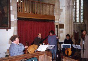 1995/96 CD-Aufnahmen William Lawes Royall Consorts (erschienen bei ASV London) mit Monika Huggett im Ensemble 'The Greate Consort'
