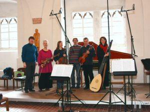 Februar 2010 - Kloster Michaelstein, Refektorium - Aufnahme der CD 'Musik für Viola d'amore' bei GENUIN (Foto: Kerstin Gutsche)