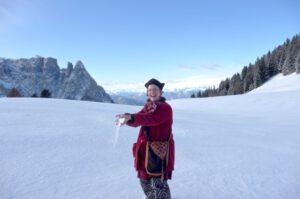 Dezember 2011 - Für 2 Konzerte in Meran und Brixen mit Philipp von Steinaecker (Musica Saeculorum) probten wir in Seis am Schlern.