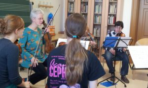 April 2012 - Workshop mit BACHS ERBEN, dem Jugendbarockorchester Michaelstein