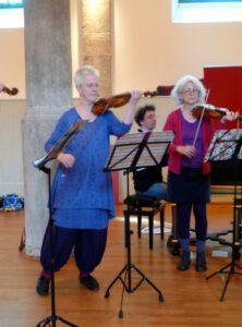 April 2014 - Erste Probenphase des Ensembles 'Fürsten-Musik' in der Landesakademie Sondershausen