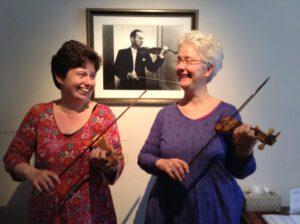 April 2015 - Violino piccolo in Monteverdis 'Orfeo' mit Kati Debretzeni und Jascha Heifetz (im Hintergrund)