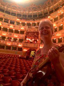 Juni 2017 - Mit der Geige von André Mehler (Modell Maggini) im Teatro 'La Fenice'