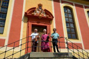 Juli 2020 - CD-Aufnahme mit Sonaten von Johann Graf, Weinbergkirche Pillnitz